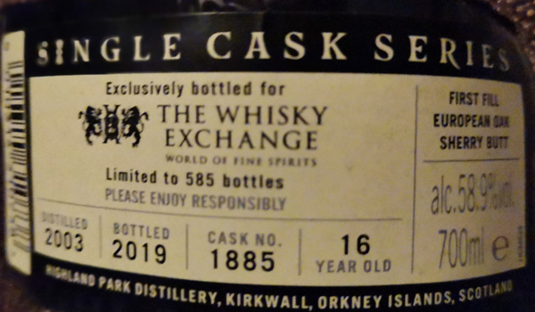 Highland Park 16yo The Whisky Exchange